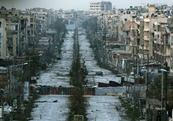 Syrian civilians flood into government-controlled territory in Aleppo