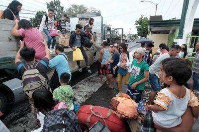 Super Typhoon Nock-ten makes landfall on the Philippines