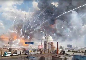 At least 60 injured after huge fireworks explosion rocks Mexico market