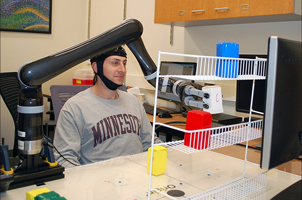 Test subjects move robotic arm with only their minds