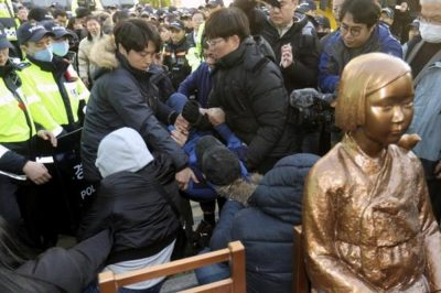 Japan recalls diplomats, halts talks with South Korea over 'comfort women' statue