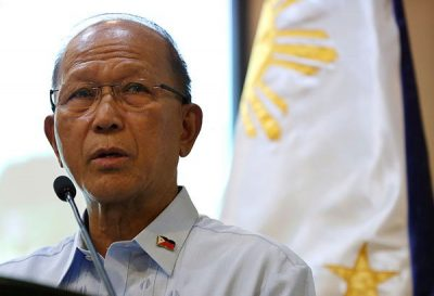 Philippine defense minister suspicious of Chinese ship activities