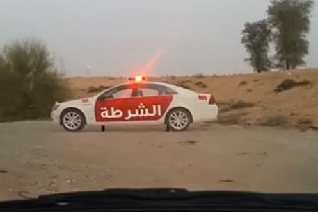 UAE driver discovers roadside police car is not what it seems