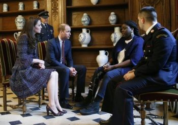 Prince William and Kate Middleton meet survivors of French attacks