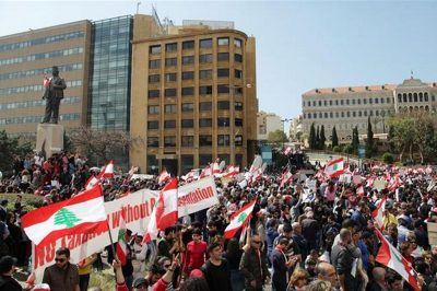 Thousands rally in Beirut against proposed tax hikes