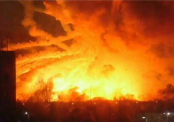 Saboteurs Blow Up Ukraine Tank Ammo, Start Massive Fire