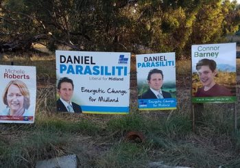 Aussie teen trolls local election with 'You can't vote for me' signs
