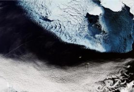 Beautiful Bering Strait image captured by Copernicus Sentinel-3A satellite