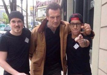 Hollywood star Liam Neeson pursues free sandwich offer