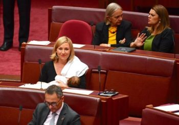 Australian politician becomes first to breastfeed in parliament