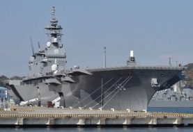 Japan sends biggest warship to protect US supply vessel
