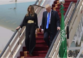 Trump in Saudi Arabia: First foreign trip starts as home troubles mount