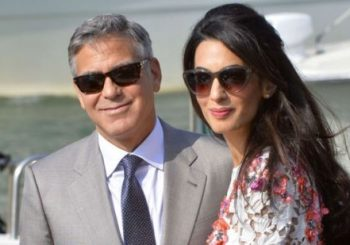 The Clooney's welcome twins Ella and Alexander
