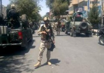 Gunfire after explosions hit Afghan capital