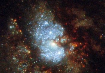 Hubble captures image of 'hidden galaxy'
