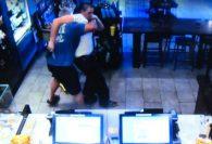 Starbucks customer takes on armed robber