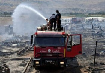 Syrian refugee camp in Lebanon destroyed by fire