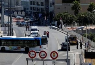 Marseille bus stop hit by van, one dead and driver arrested
