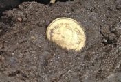 Metal detectorist finds rare 6th Century coin pendant