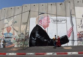 New murals of Trump appear on wall between Bethlehem, Jerusalem