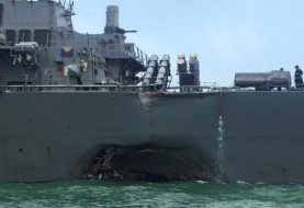 Ten missing in US destroyer collision