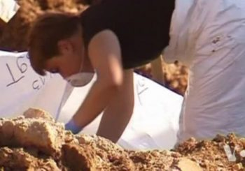 At least 65 skulls found so far at a mass grave in Bosnia