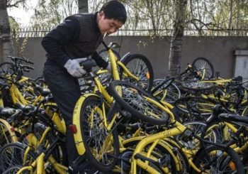Beijing bans new bikes as sharing schemes cause chaos