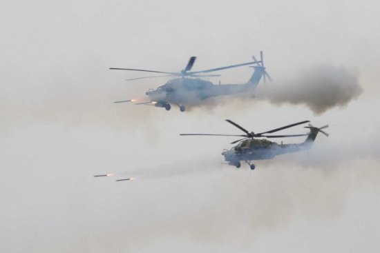 Russian helicopter accidentally fires on spectators at drills