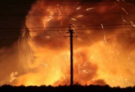 Thousands evacuated in Ukraine as ammunition depot explodes