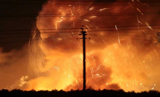 Thousands evacuated in Ukraine as ammunition depot explodes