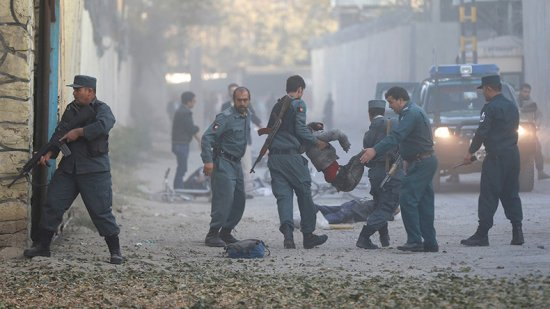 14 dead as blast rocks foreign embassy district in Kabul