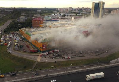 Blaze at Moscow shopping center forces 3,000 to evacuate