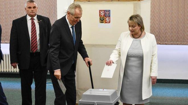 Czech president Zeman wins second term