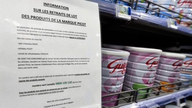 French salmonella baby milk scandal affects 83 countries