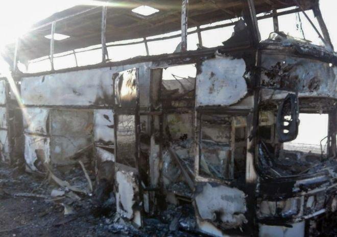 Kazakhstan bus fire kills 52 with few survivors